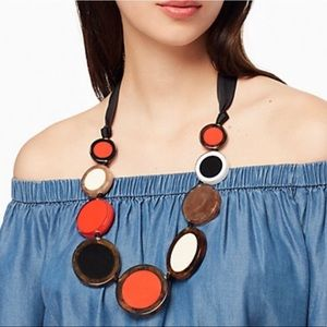 Kate Spade Connect the Dots statement necklace